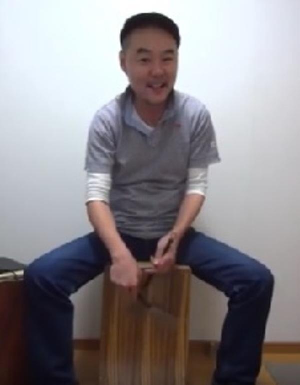 カホン個人レッスン教室 神戸・三宮 ブラシステックで叩いてみよう!叩き方